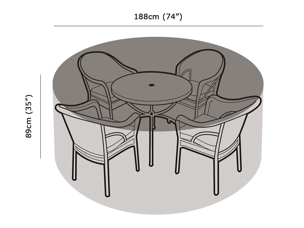 4 6 Seater Round Table And Chairs Cover Garden Furniture Covers