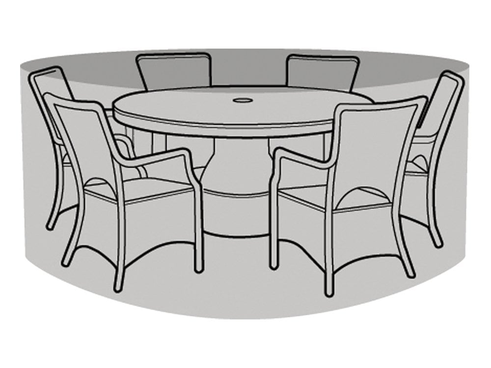 6 8 Seater Round Table And Chairs Cover, 8 Seater Round Table